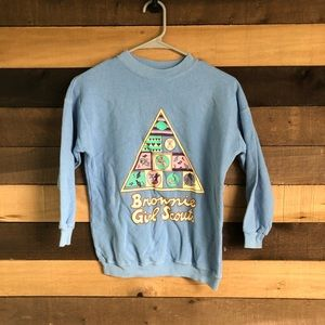 Vintage Girl Scouts Girls Crewneck size Medium